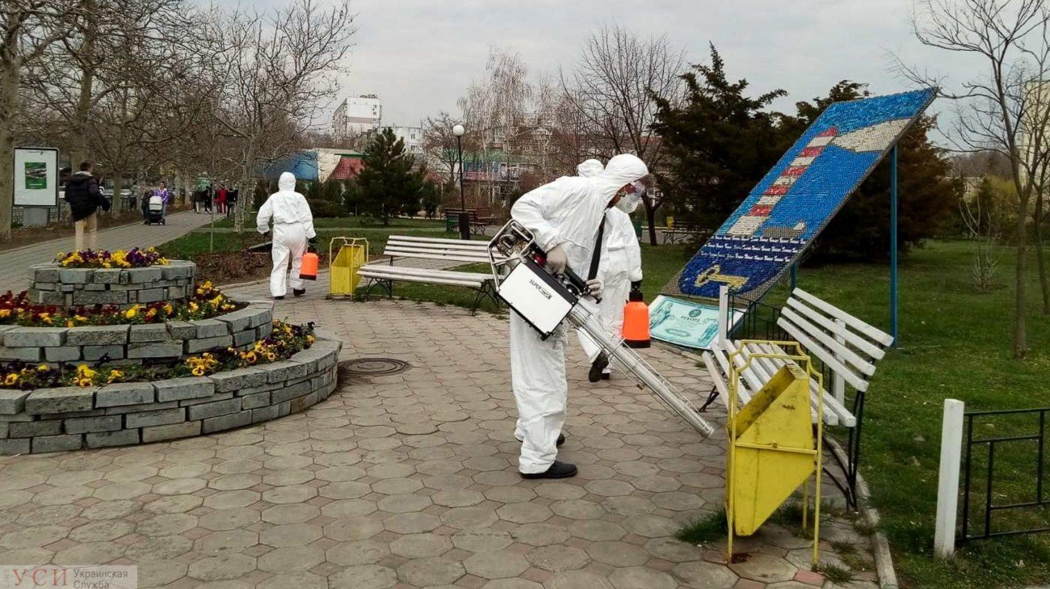 В Черноморске выборочно дезинфицируют подъезды домов (фото) «фото»