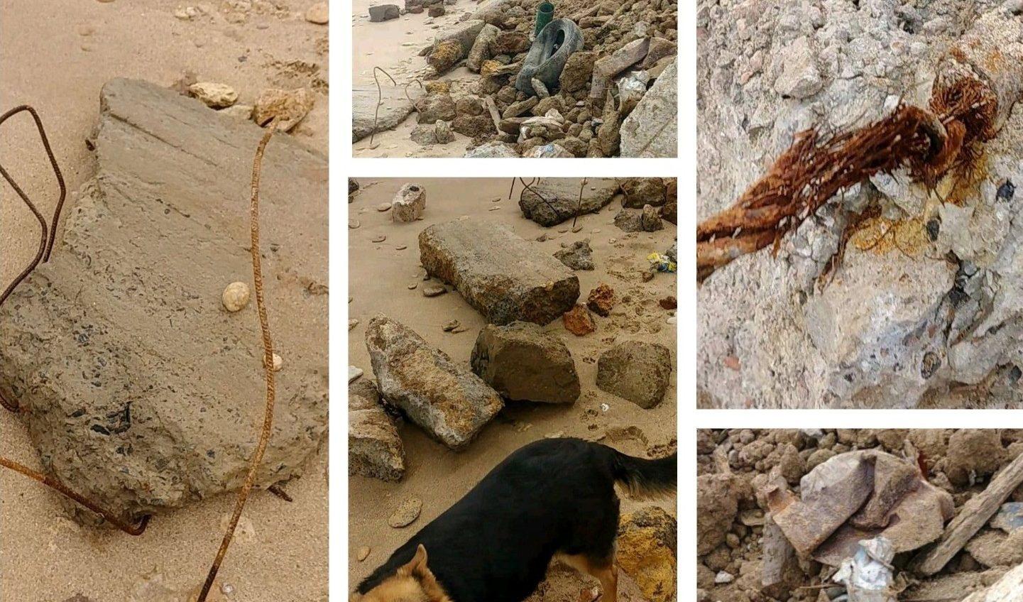 Арматура и куски бетона: в Черноморке пляж засыпали строительным мусором (фото) «фото»