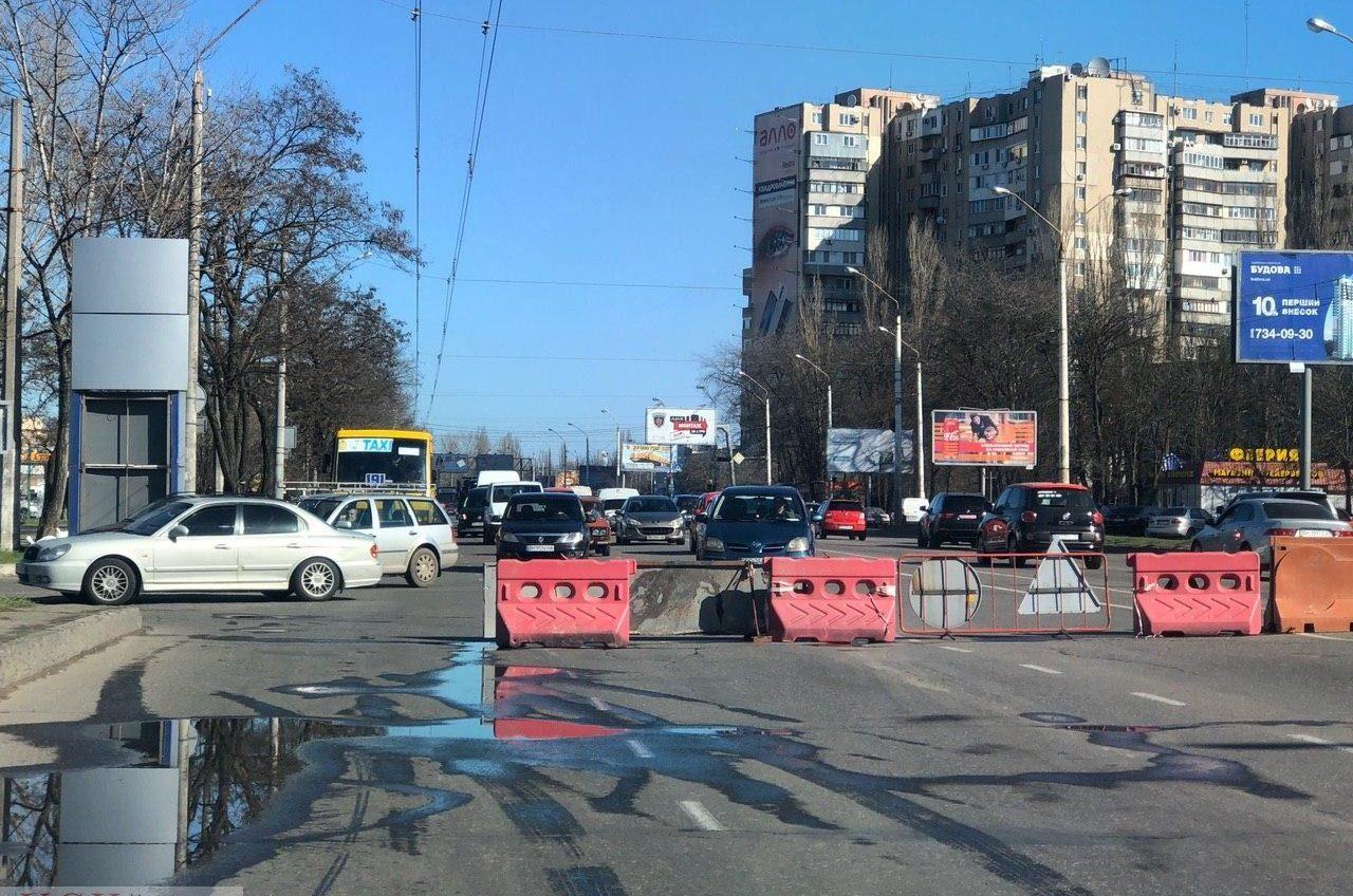 Выезжайте заранее: в Одессе перекрыли часть проспекта Небесной сотни (фоторепортаж, аэросъемка) «фото»