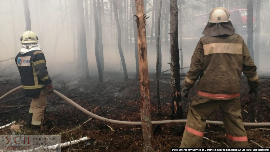 Пожары в Украине продолжаются: спасатели работают в Чернобыле, Житомирской и Киевской областях «фото»