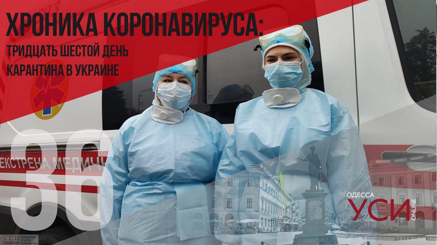 Хроника коронавируса: 36 дней с начала карантина в Украине ОБНОВЛЯЕТСЯ «фото»