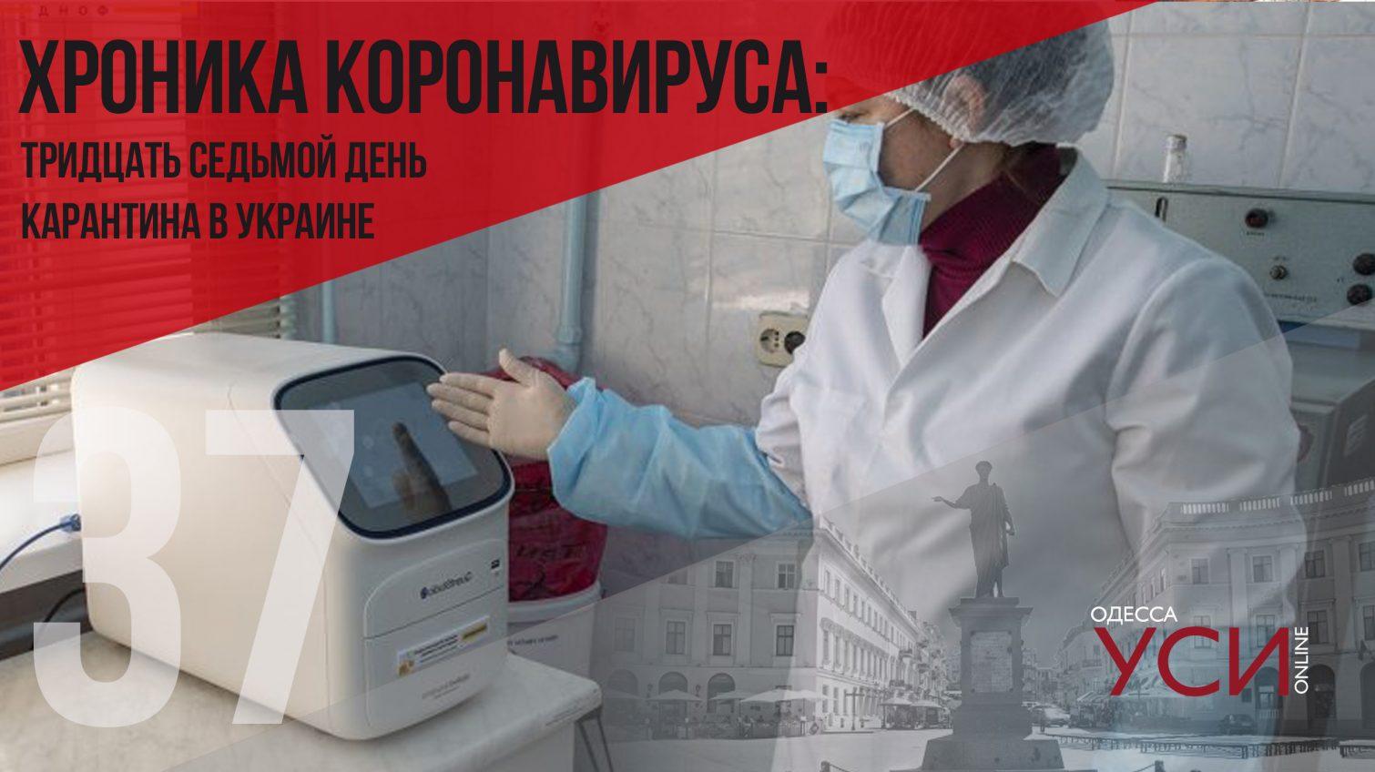 Хроника коронавируса: 37 дней с начала карантина в Украине ОБНОВЛЯЕТСЯ «фото»