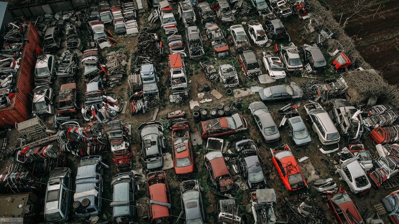«Разборки»: кладбище машин на Куяльнике (аэросъемка) «фото»