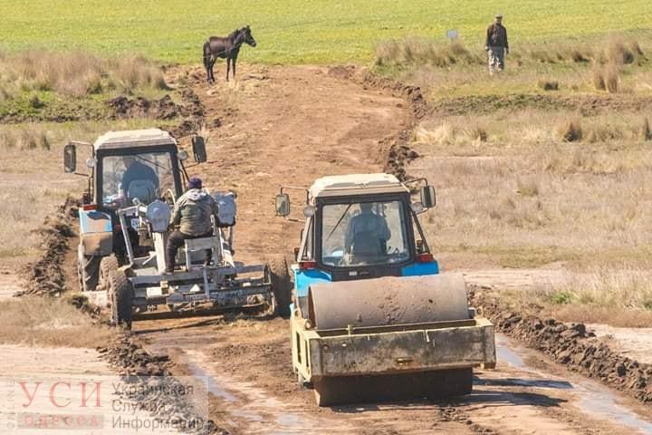 В Одесской области фермеры построили дорогу в заповедник (фото) «фото»
