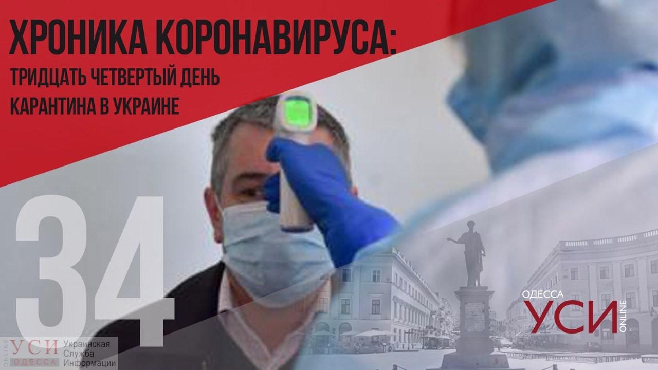 Хроника коронавируса: 34 дня с начала карантина в Украине ОБНОВЛЯЕТСЯ «фото»