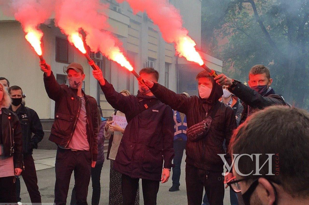 Митинг за справедливость: в Киеве под Министерство внутренних дел вышли на протест в поддержку Хаецкого (фото) «фото»