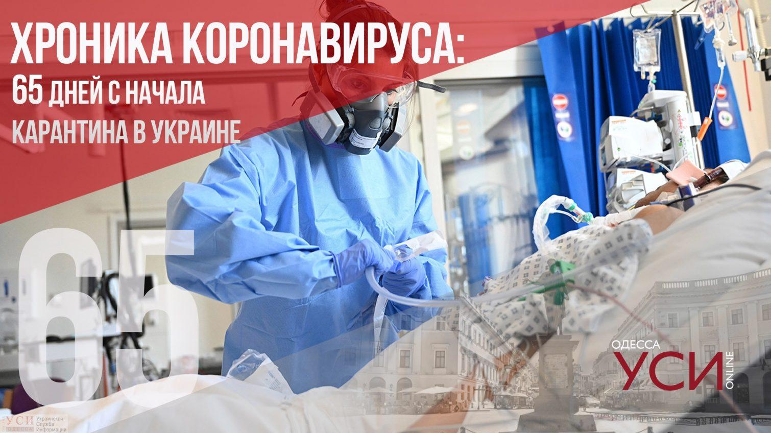 Хроника коронавируса: 65 дней с начала карантина в Украине (карта) «фото»
