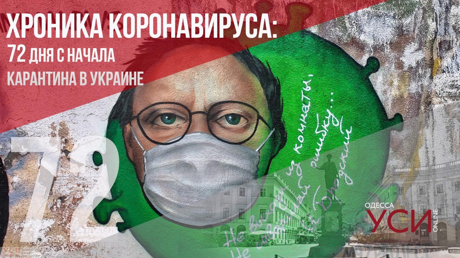 Хроника коронавируса: 72 день карантина в Украине ОБНОВЛЯЕТСЯ «фото»