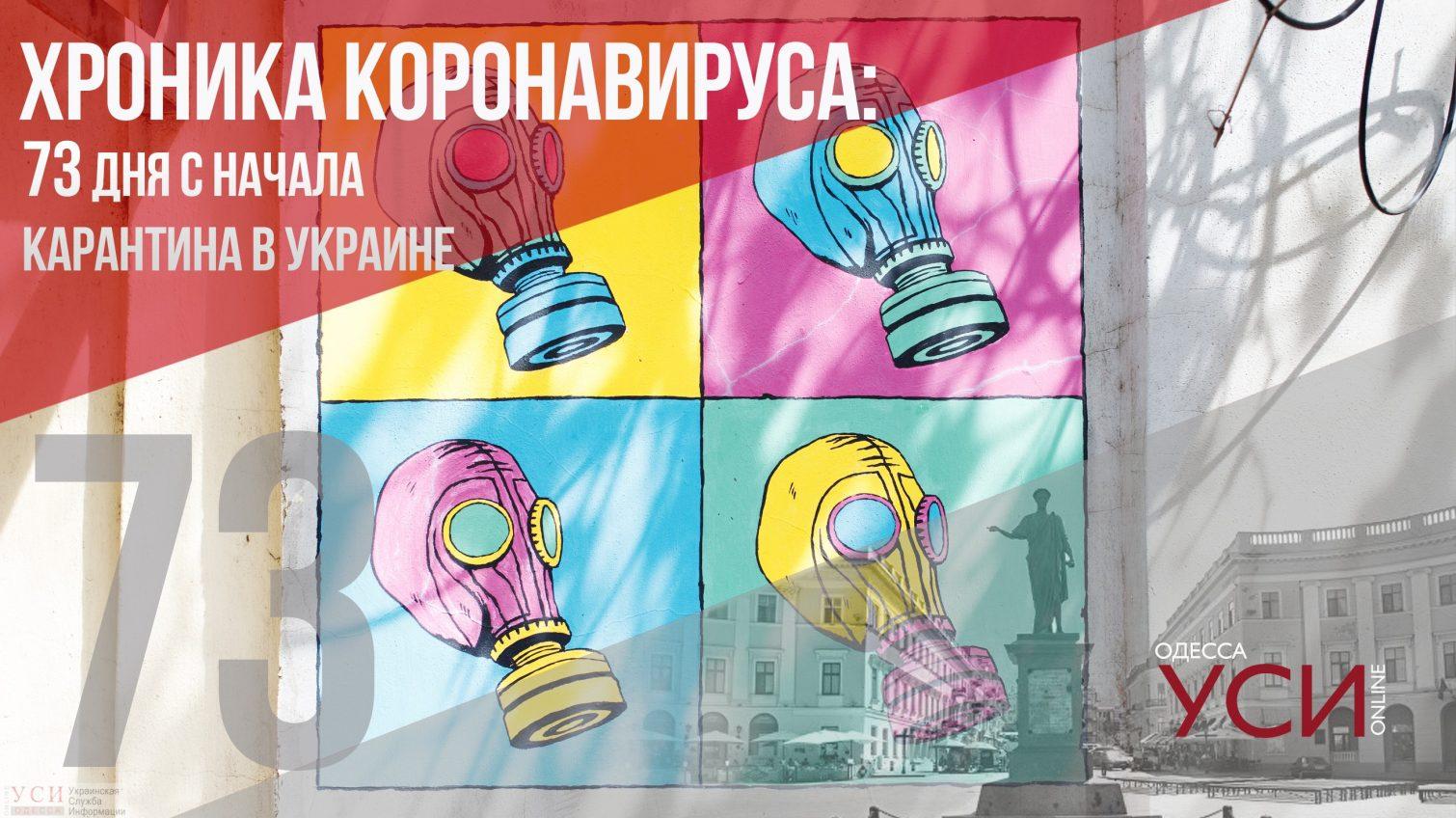 Хроника коронавируса: 73 день карантина в Украине ОБНОВЛЯЕТСЯ «фото»