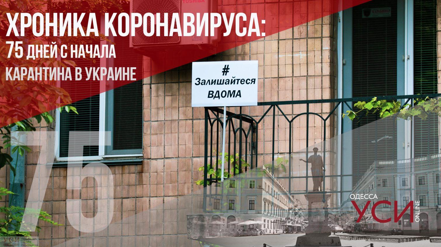 Хроника коронавируса: 75 день карантина в Украине ОБНОВЛЯЕТСЯ «фото»