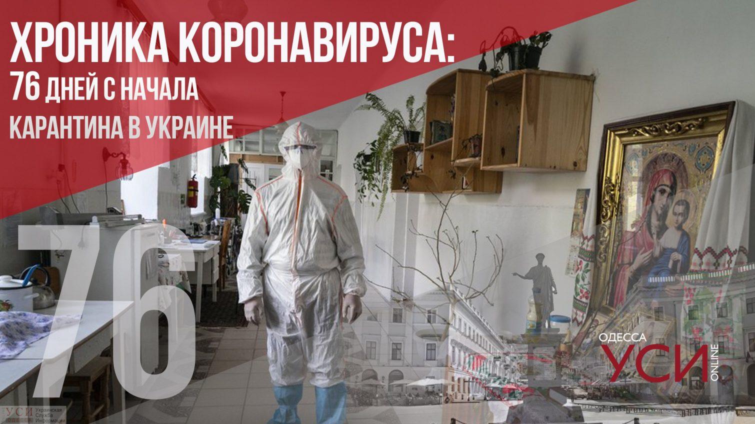 Хроника коронавируса: 76 день карантина в Украине ОБНОВЛЯЕТСЯ «фото»