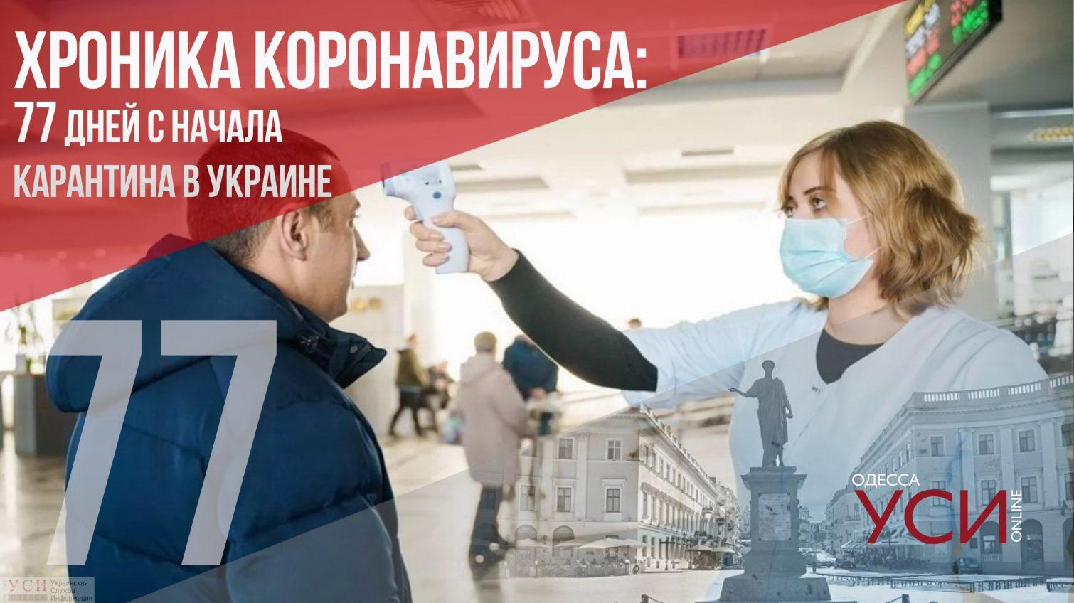 Хроника коронавируса: 77 дней с начала карантина в Украине ОБНОВЛЯЕТСЯ «фото»
