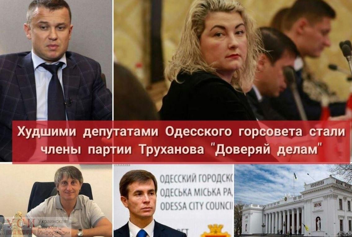 Худшими депутатами Одесского горсовета стали члены партии Труханова «Доверяй делам» «фото»