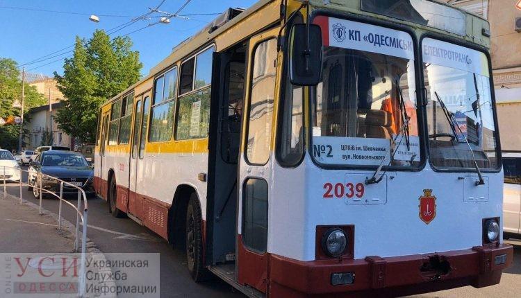 В Одессе запустили троллейбус №2: он не работал из-за рухнувшего дома на Торговой «фото»