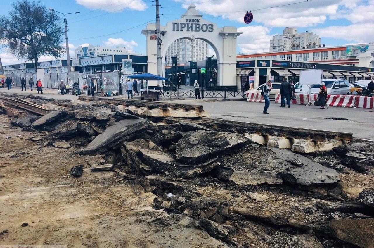 В мэрии отводят 32 сотки земли в районе Привоза, где построили вместо паркинга торговый центр «фото»