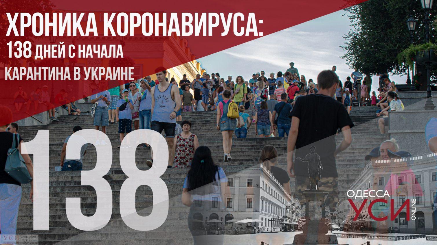 Хроника коронавируса: 138 дней с начала карантина в Украине ОБНОВЛЯЕТСЯ «фото»