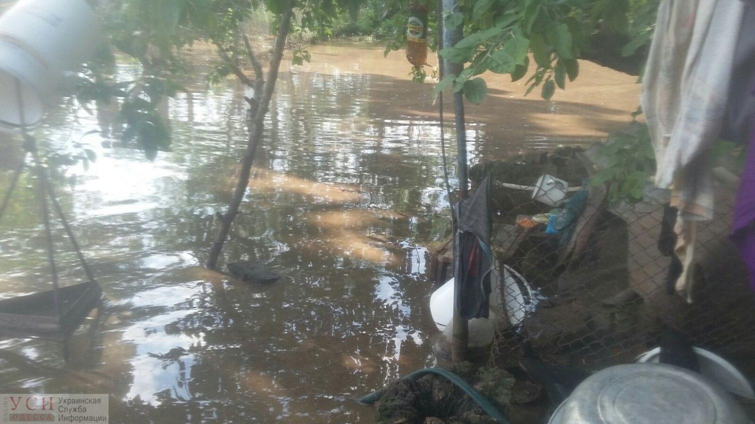 Жительница Одесской области с грудничком провела сутки в затопленном доме (фото) «фото»