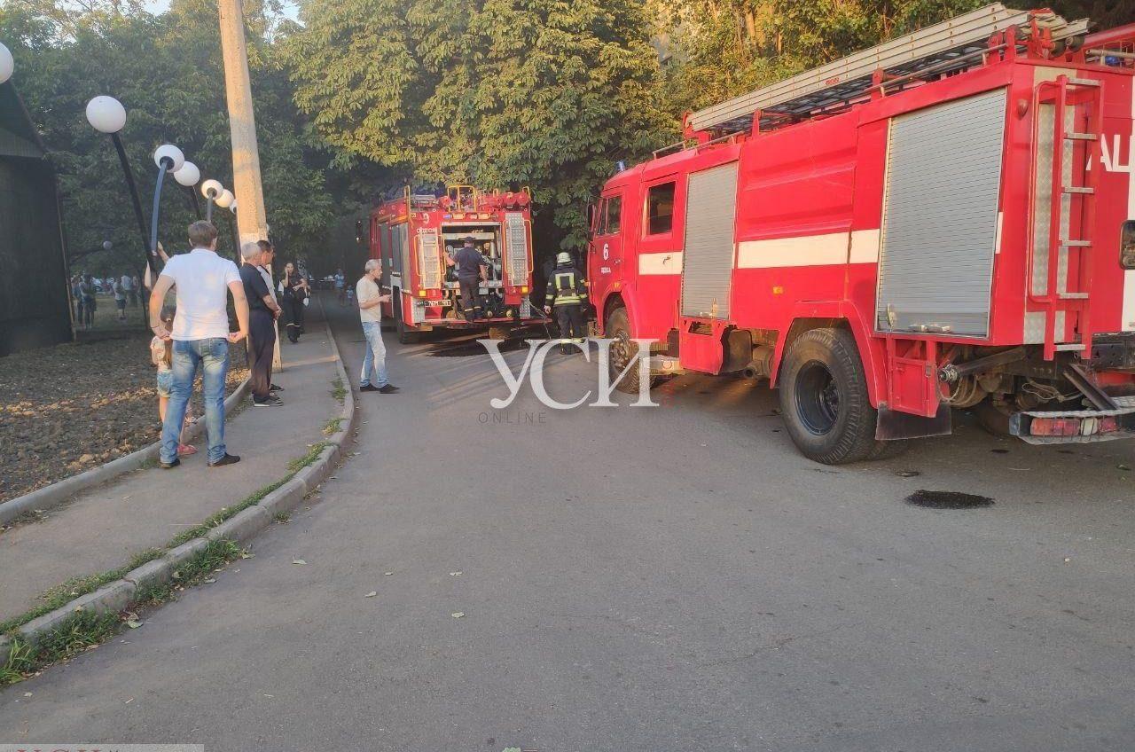 На Таирова горело отделение банка (фото) «фото»