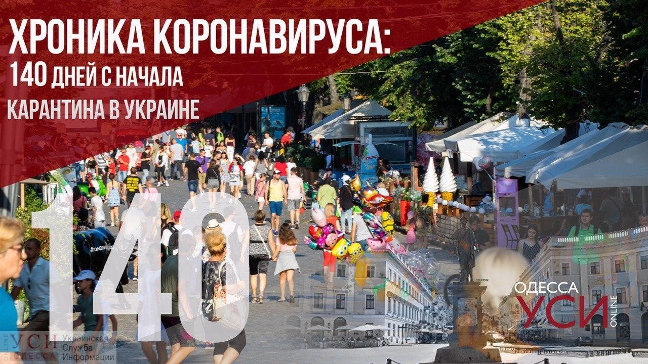 Хроника коронавируса: 140 дней с начала карантина в Украине «фото»