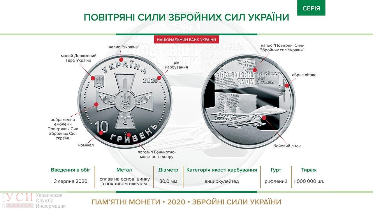 Ко Дню ВВС Украины Нацбанк выпустит памятные монеты с истребителем «фото»