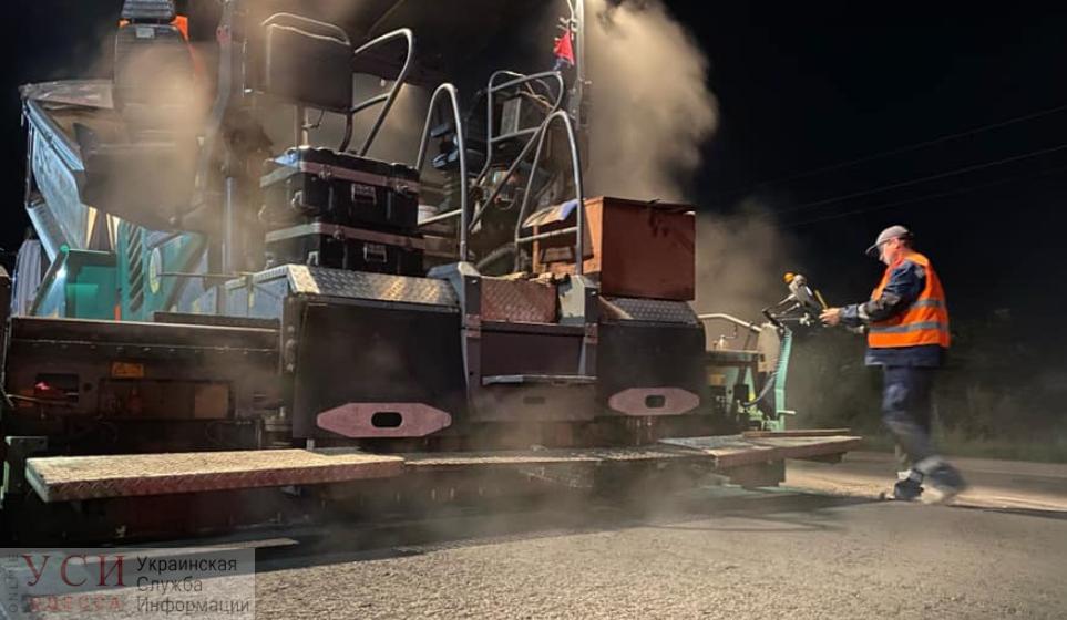 Объездную дорогу в районе Южного начали ремонтировать по ночам «фото»