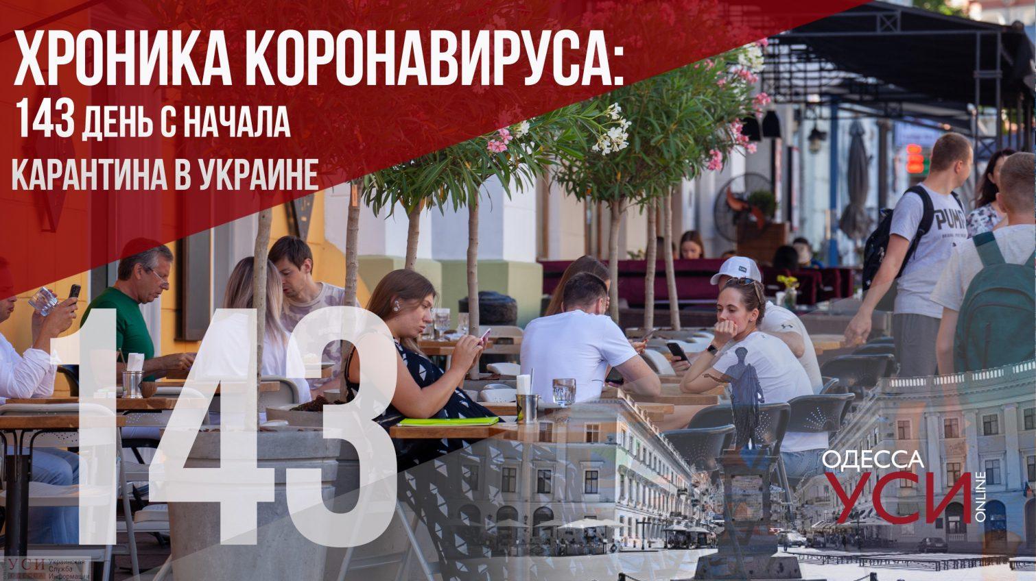 Хроника коронавируса: 143-й день карантина в Украине –заболевших снова более 1000 ОБНОВЛЕНО «фото»