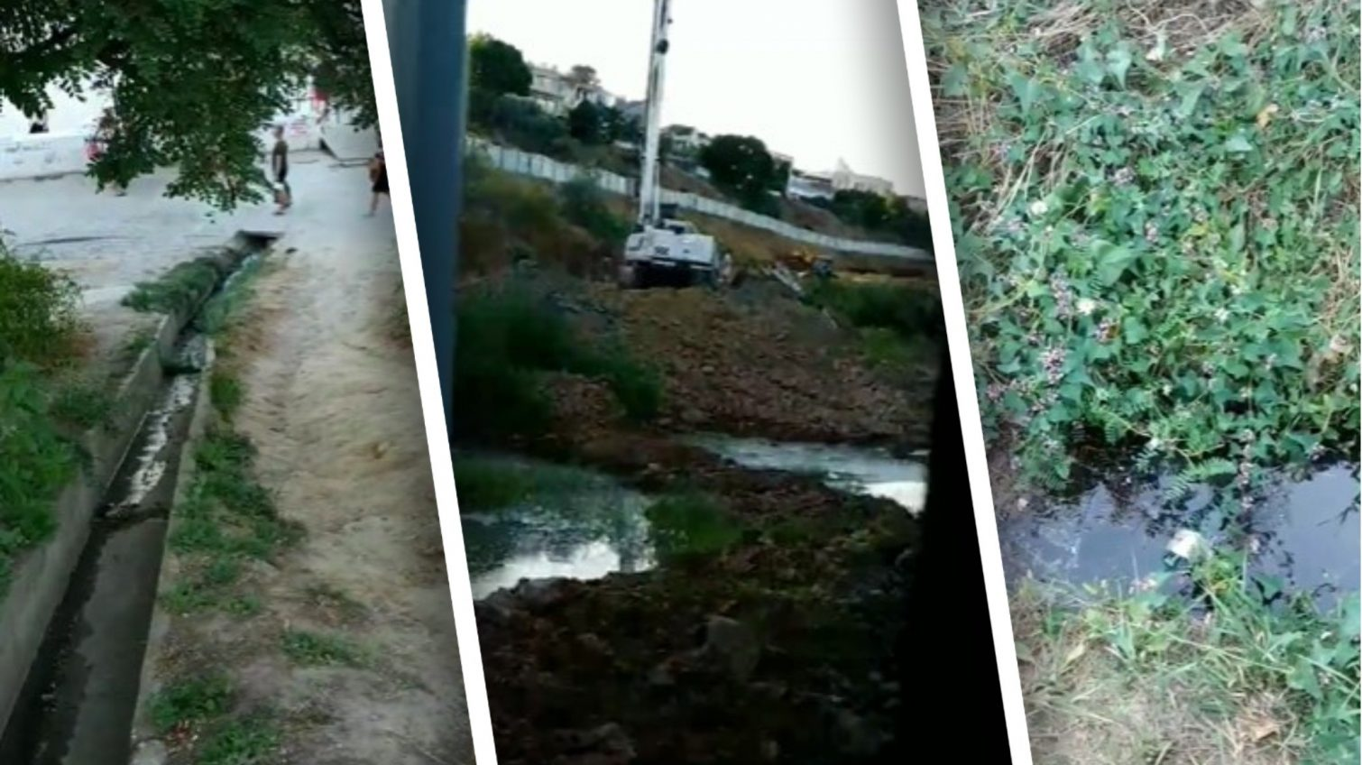 Рядом со стройкой на 13-й Фонтана образовались зловонные «озера», откуда грязная вода течет в море (видео) «фото»