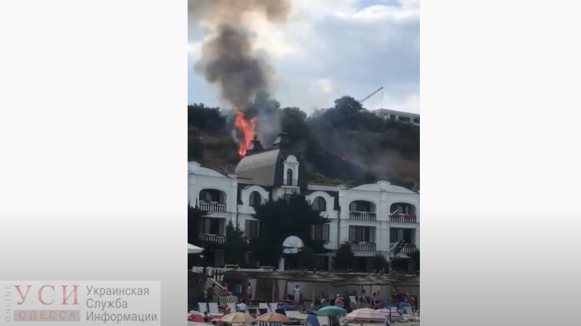 На прибрежных склонах рядом с Мужским монастырем произошел пожар (видео) ОБНОВЛЕНО «фото»