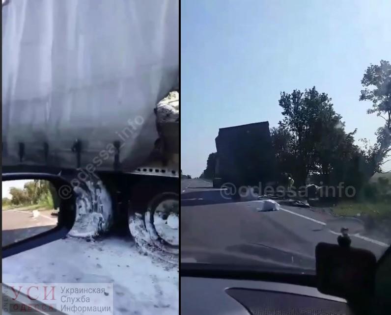 В районе Сараты загорелся грузовик, инцидент попал на камеры очевидцев (видео) «фото»