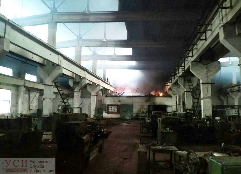 В Вилково горел заброшенный завод (фото) «фото»