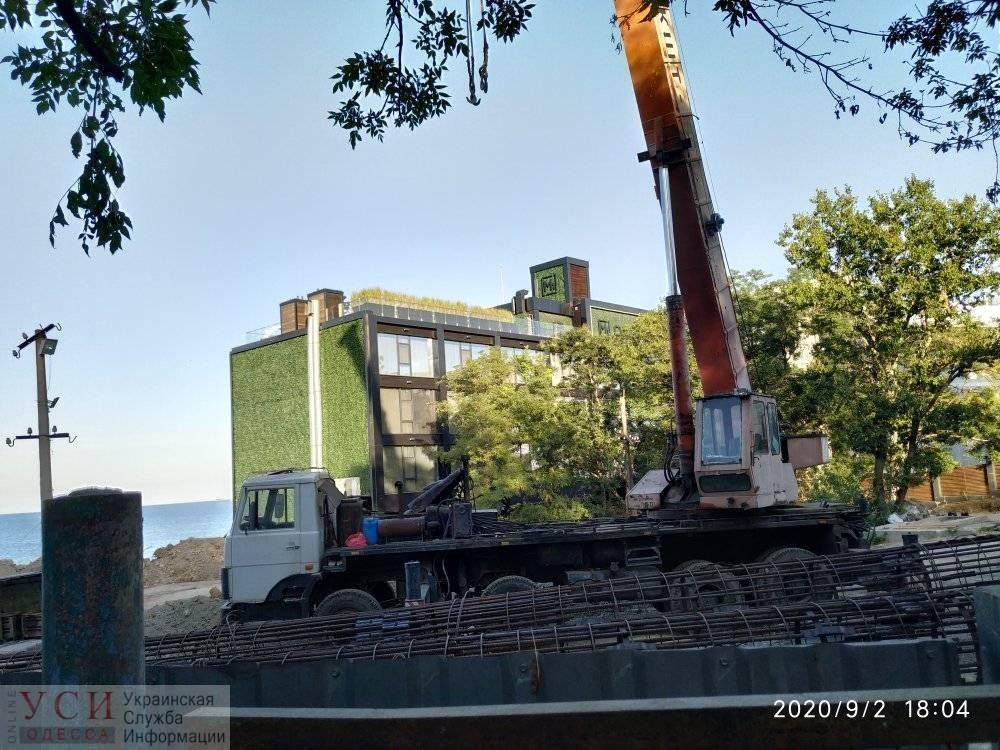 На Ланжероне начали новую стройку (фото) «фото»