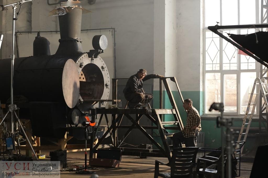В Одессе вагонное депо на сутки превратилось в съемочную площадку (фото) «фото»