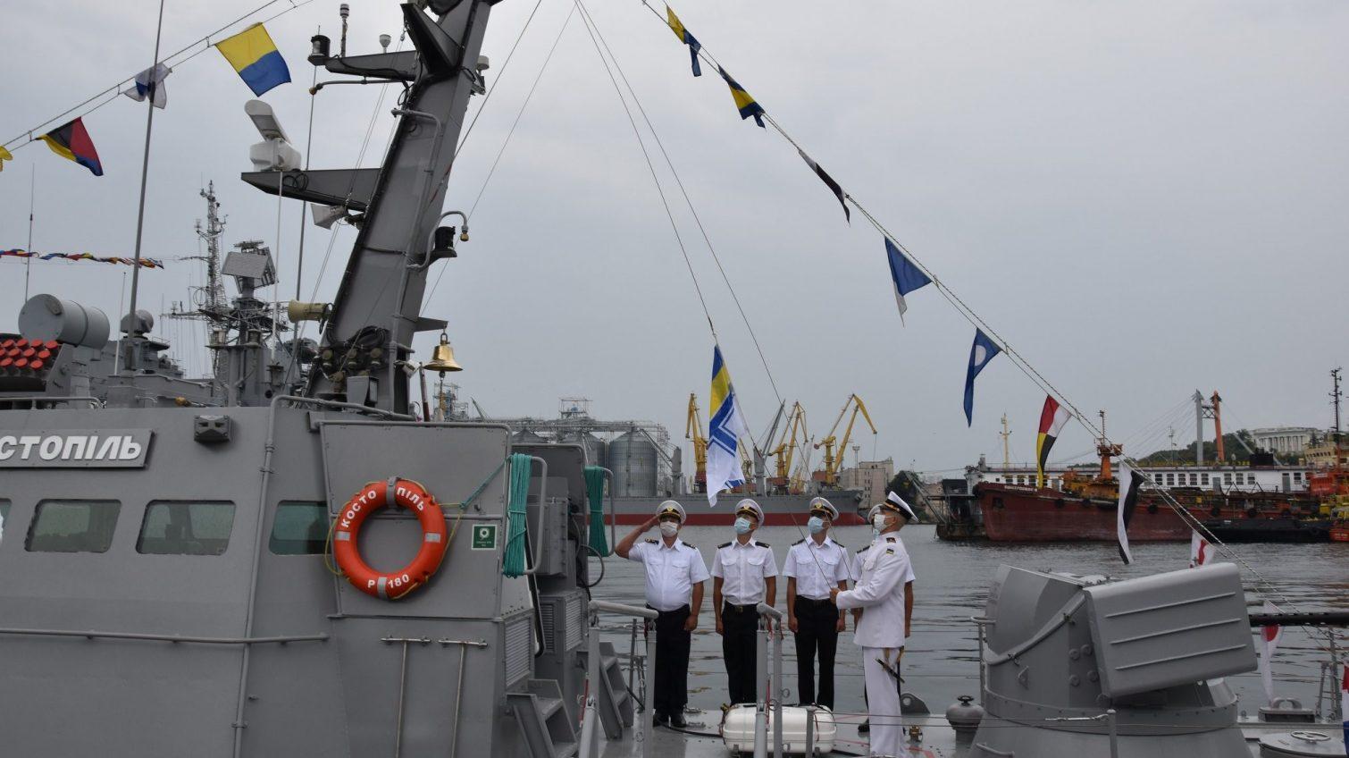 В Одессе украинские ВМС получили малый бронированный катер «Костополь» «фото»