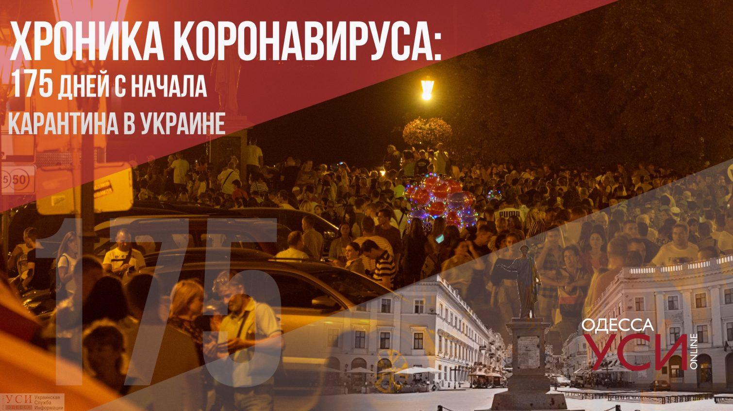 Хроника коронавируса: 175 дней с начала карантина в Украине «фото»