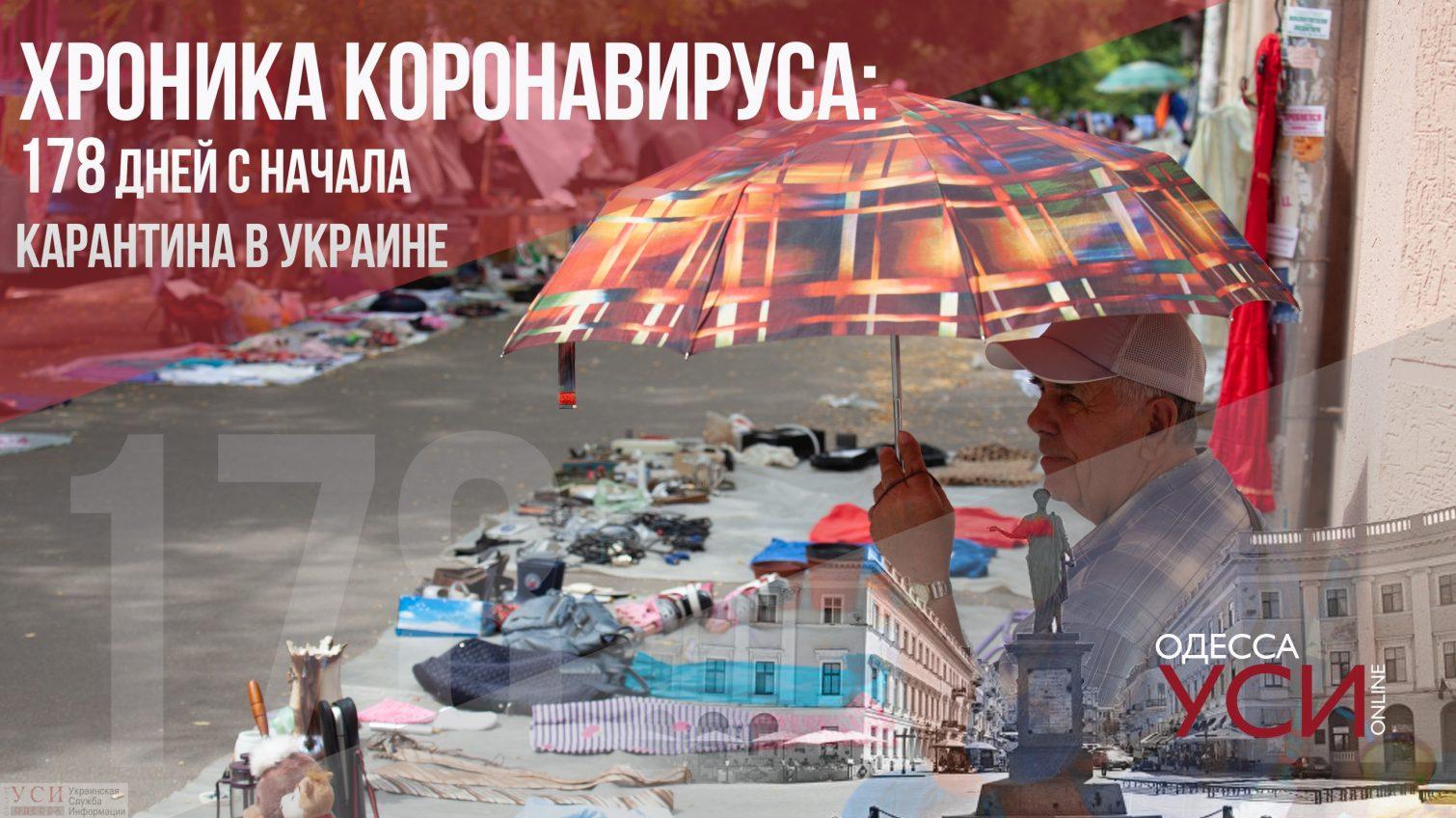 Хроника коронавируса: 178 дней с начала карантина в Украине «фото»