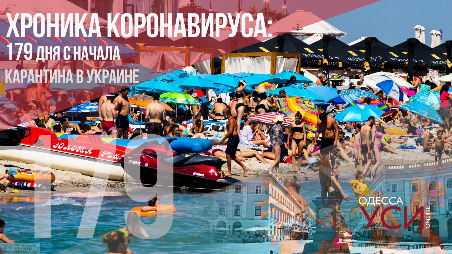 Хроника коронавируса: 179 дней с начала карантина в Украине «фото»