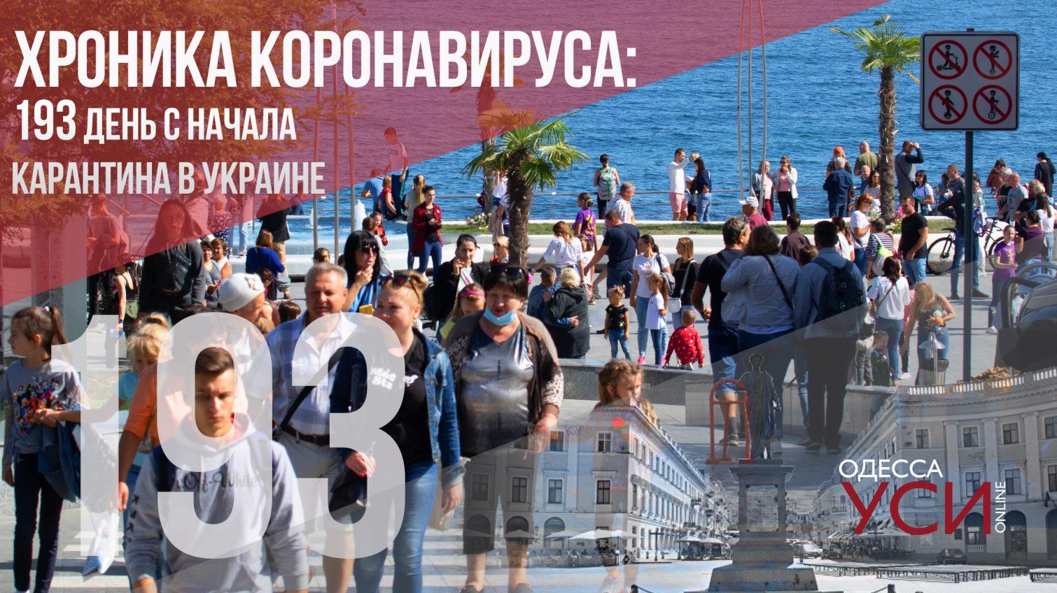 Хроника коронавируса: 193 день с начала карантина в Украине «фото»