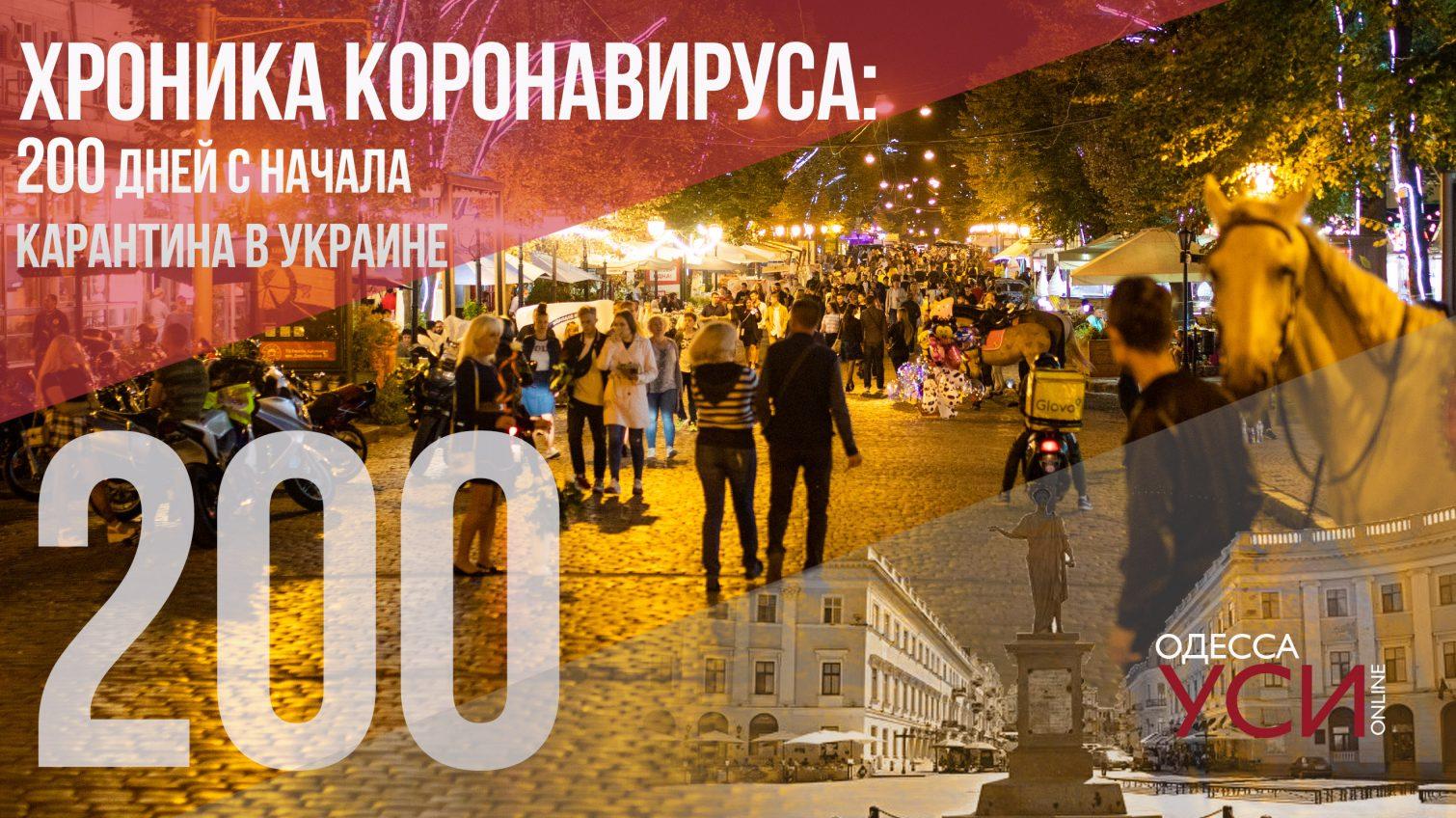 Хроника коронавируса: 200 дней с начала карантина в Украине «фото»