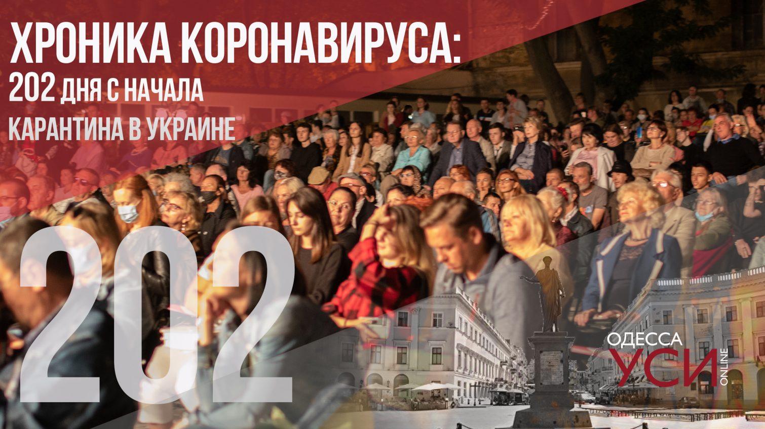 Хроника коронавируса: 202 день со дня начала карантина в Украине «фото»