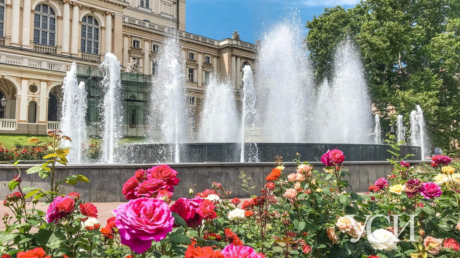 Большой фонтан возле Оперного театра повредили вандалы «фото»
