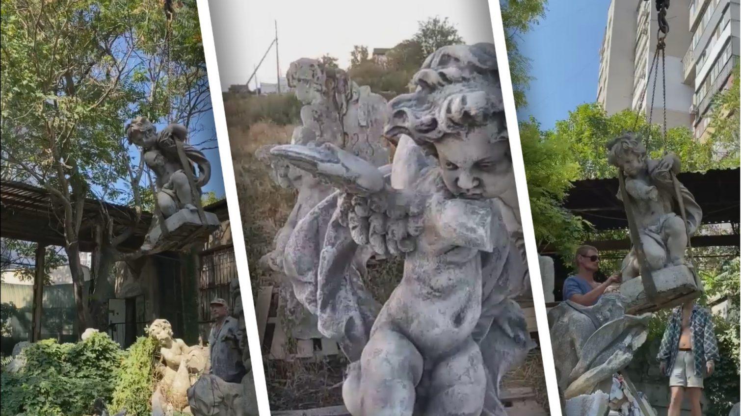 Стало известно, куда вывезли оригинальные скульптуры с крыши Оперного театра «фото»