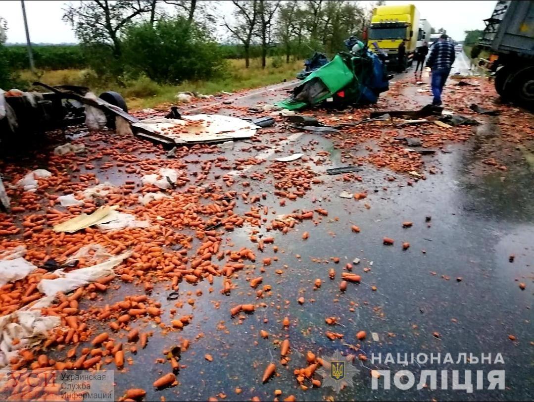 На трассе Одесса — Николаев столкнулись грузовик и легковушка: двое водителей погибли на месте (фото) «фото»