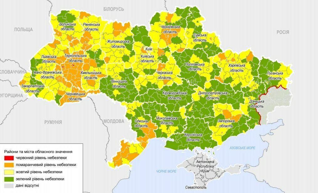 Новые зоны по COVID-19: Одесса – в желтой, красной – нет «фото»