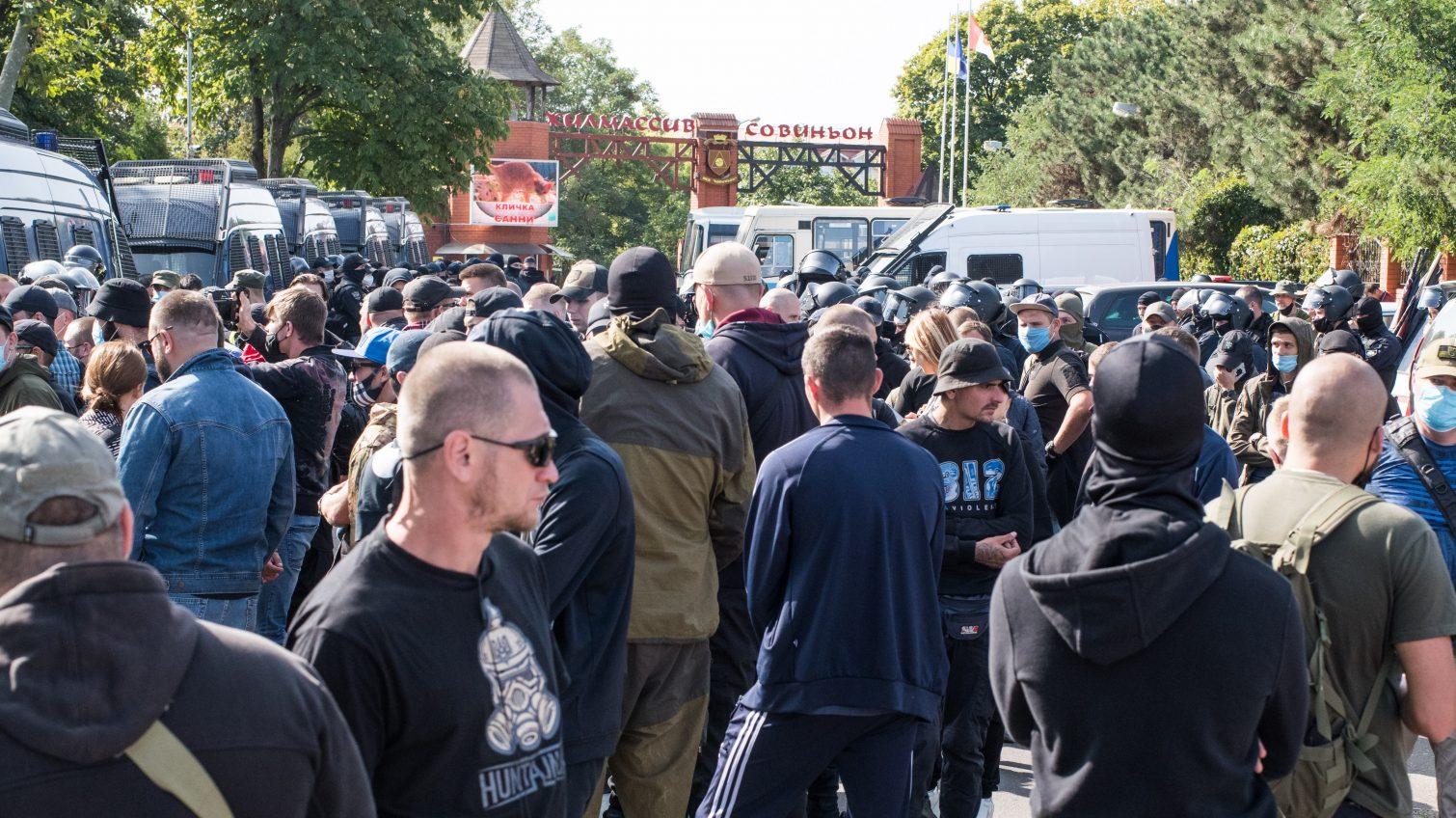Националисты против Кивы: в Совиньоне пытались сорвать съезд ОПЗЖ «фото»