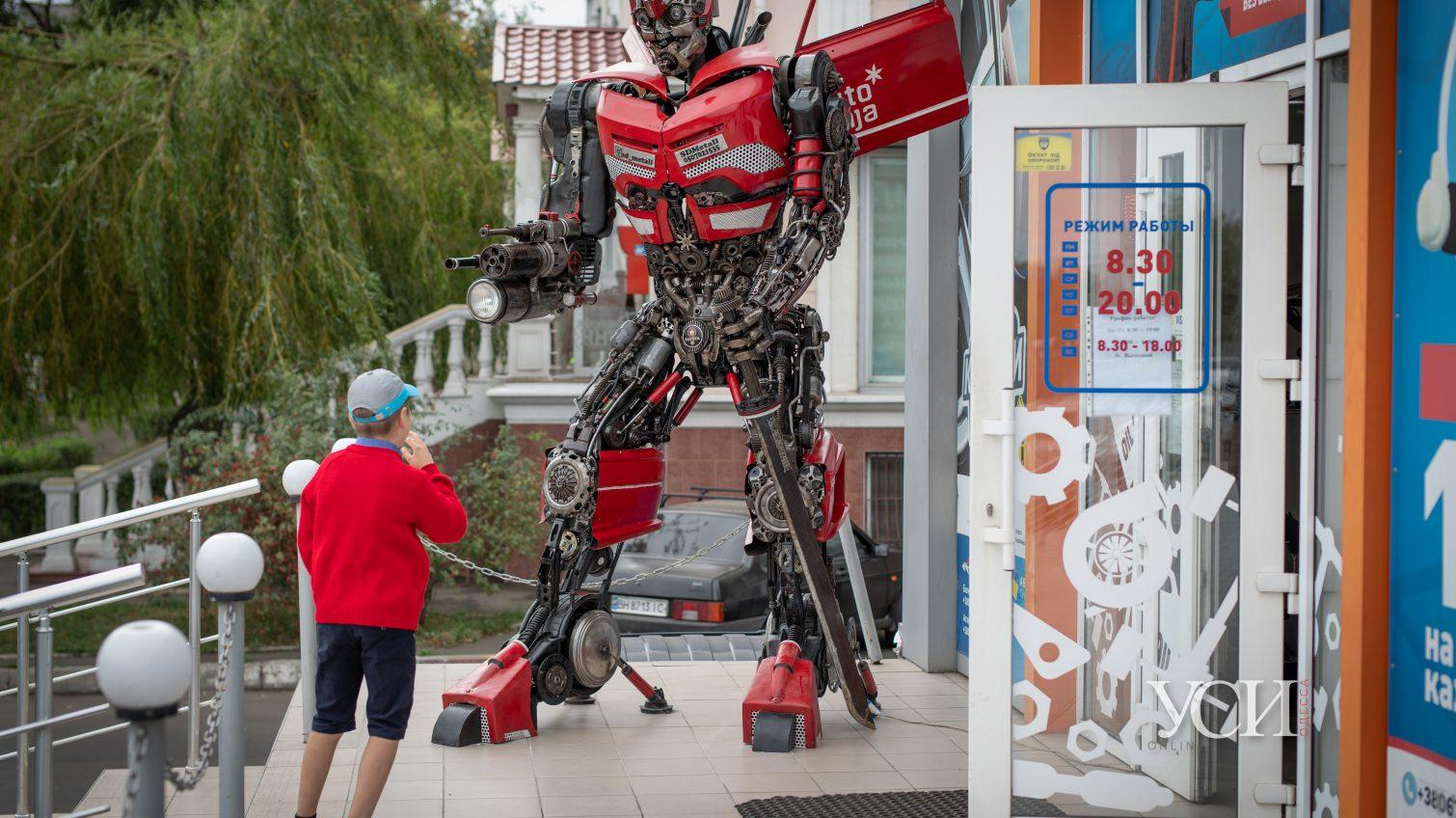 Настоящий трансформер из автохлама появился на Балковской «фото»