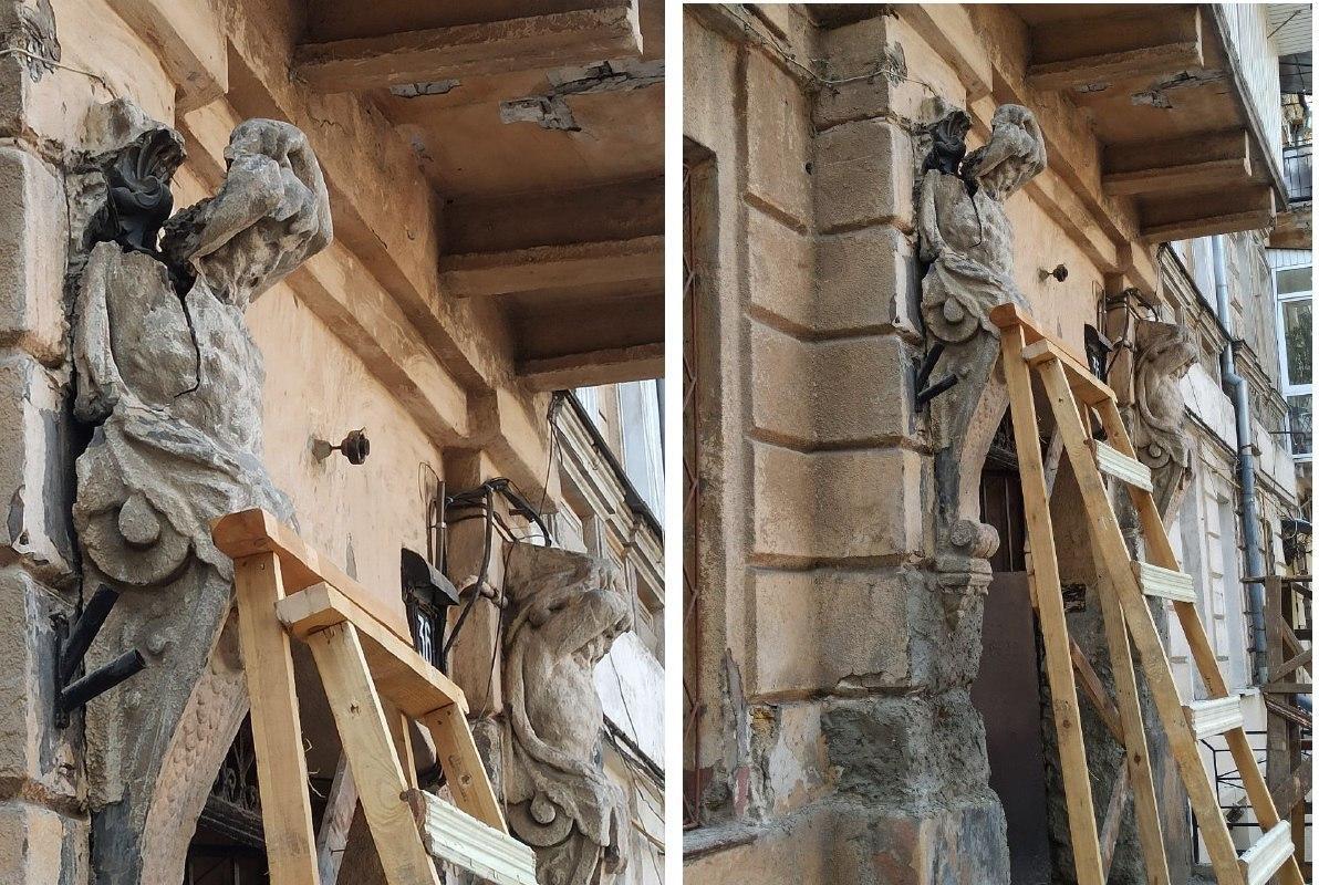 В доме-памятнике архитектуры, где жил лауреат Нобелевской премии, ведутся незаконные работы: владелец помещений внутрь никого не пускает «фото»