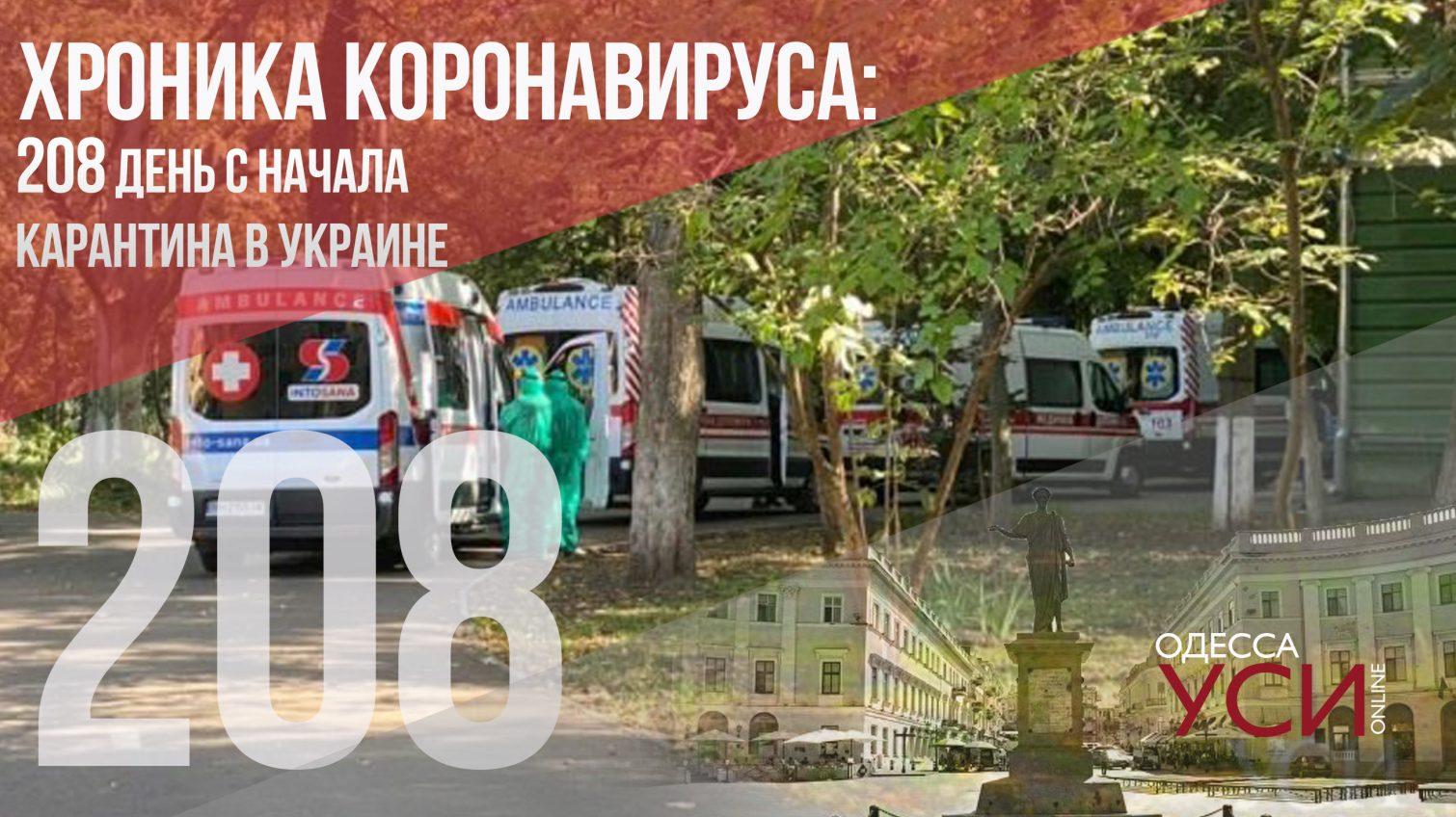 Хроника коронавируса: на 208-й день с начала карантина в Одесском регионе – 8 летальных случаев «фото»