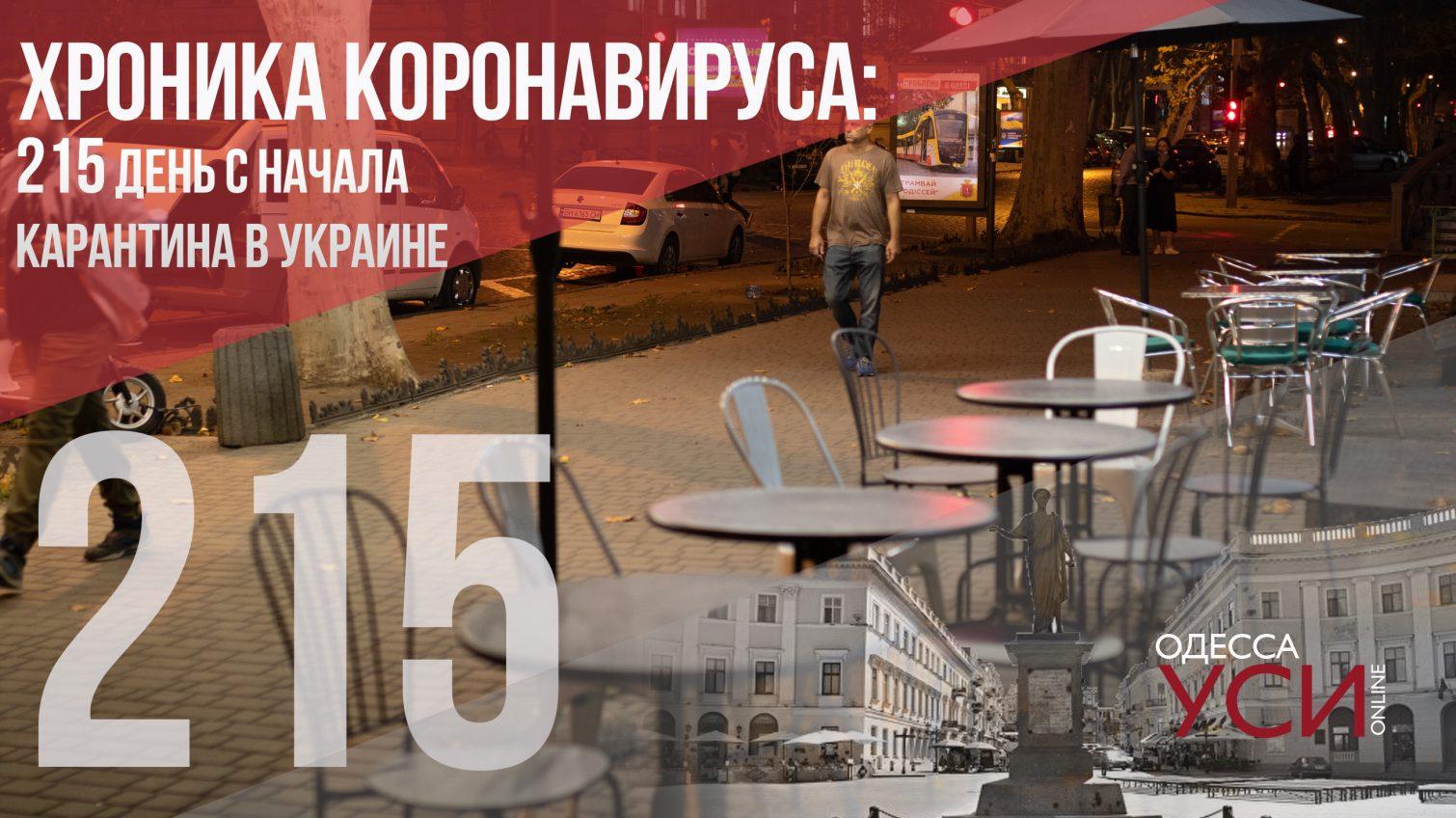 Хроника коронавируса: 215-й день карантина в Украине – 10 умерших в Одесской области «фото»