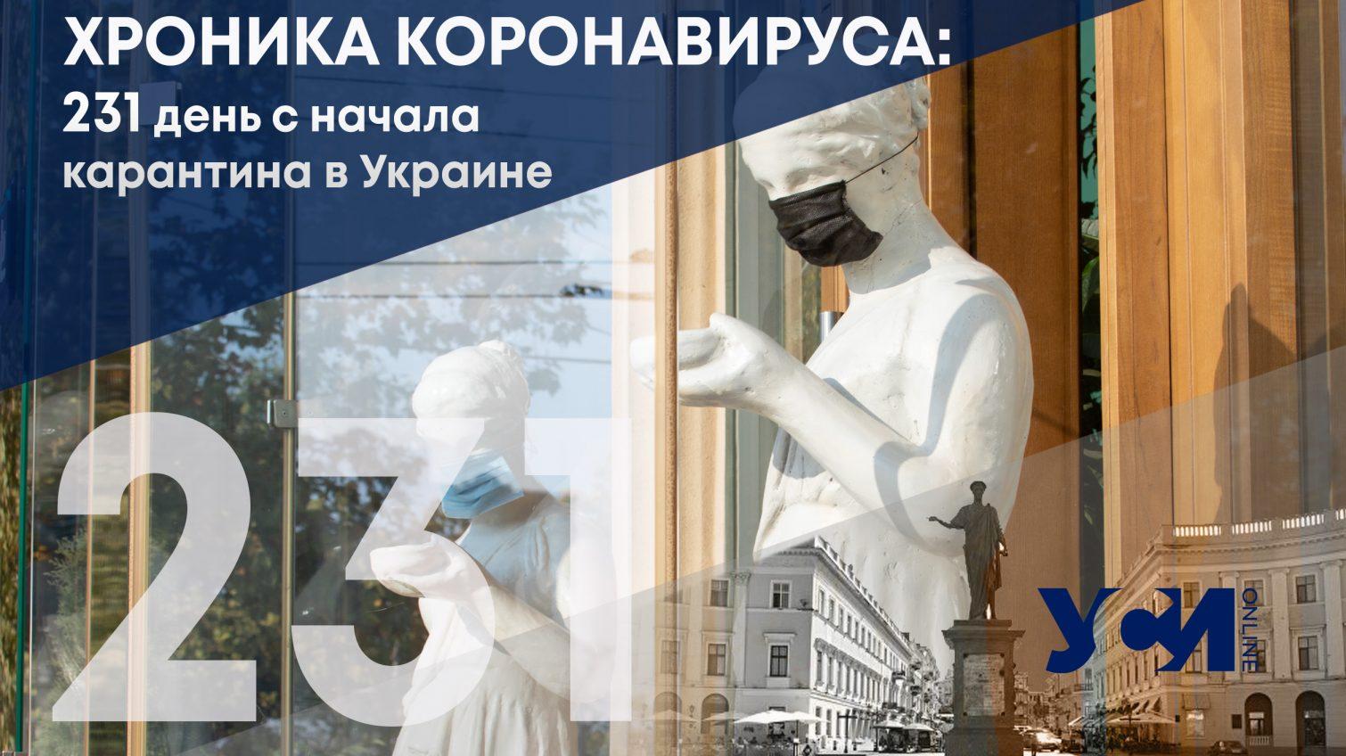 231 день карантина в Украине: вновь более 7000 заболевших «фото»