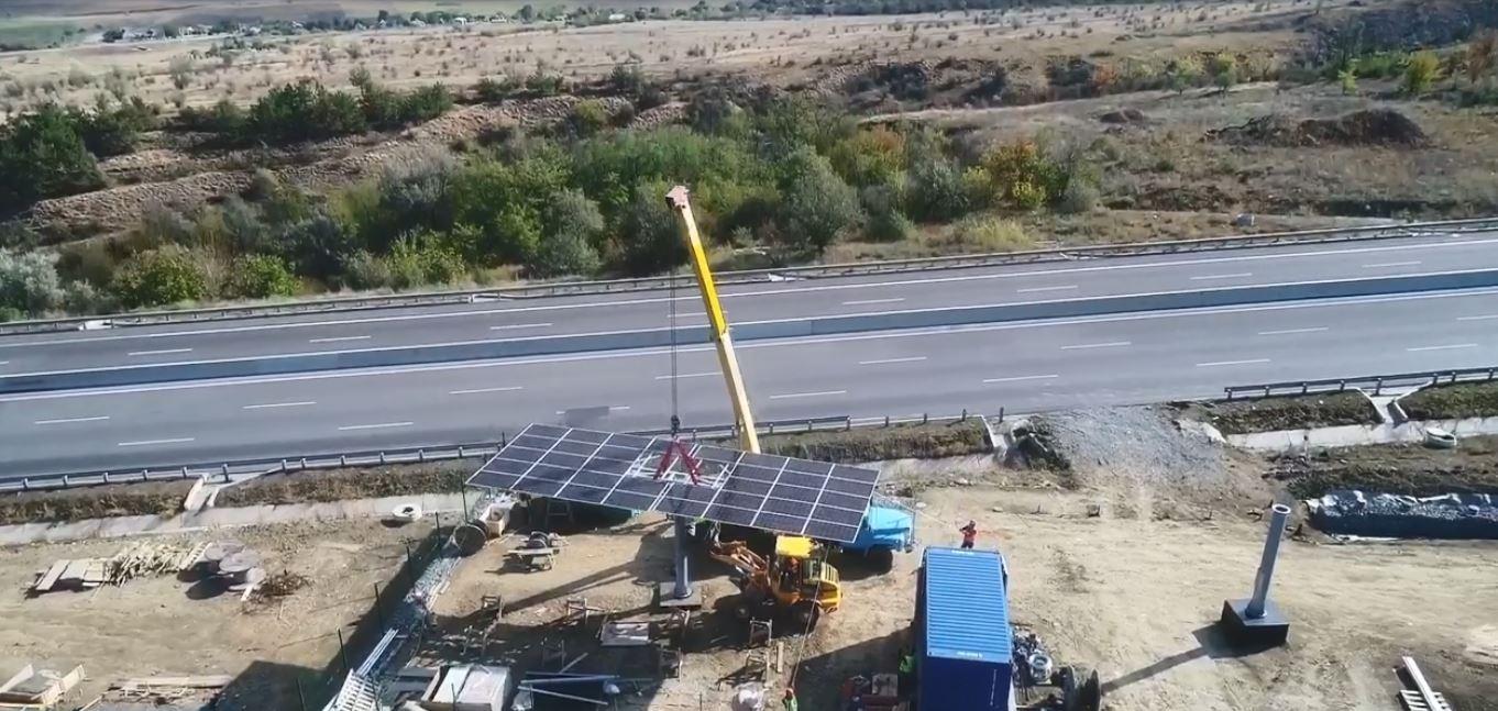 На трассе Одесса-Киев появятся две солнечные электростанции: одну из них уже устанавливают (фото, видео) «фото»